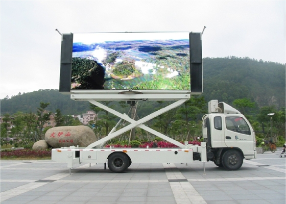 Big Size Outdoor P6 LED Mobile Billboard 100 Levels Brightness Control