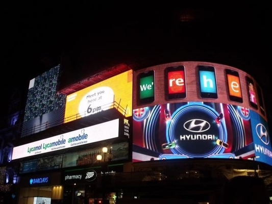 Full Color Led Outdoor Advertising Screens , Commercial LED Wall Panel Board P6
