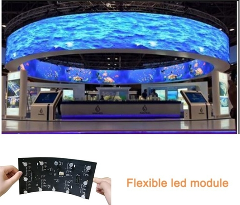 China Curvando a exposição transparente flexível da cortina macia interna video da tela do diodo emissor de luz da cor completa distribuidor